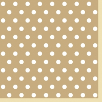 Lunch Servietten Beige Dots II