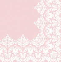 Lunch Servietten Ornament Border Pink