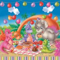 Lunch Servietten Dinosaur Picnic Party