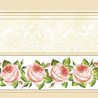 Lunch Servietten rose roses with cream