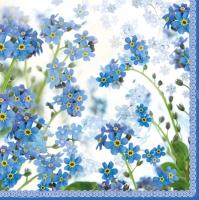 Lunch napkins Springtime blue