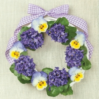 Lunch Servietten Violets Wreath