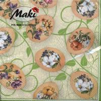 Lunch napkins Ostereier mit Blumen