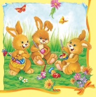 Lunch napkins Three Funny Bunnys