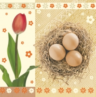 Serviettes lunch Tulips+Eggs