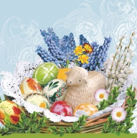 Lunch napkins Easter Baskets blue