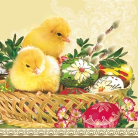 Serviettes lunch Easter Baskets+Chicken
