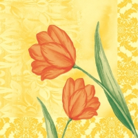 50 Linclass Dinner napkins SALLY gelb-orange