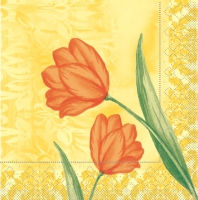 100 Tissue Lunch napkins SALLY gelb-orange