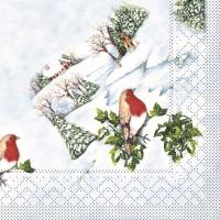 100 Tissue Lunch Servetten - Wintervogel