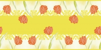 Table runner 40 cm x 24 ldm. - Sally (orange)
