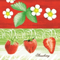 50 Linclass Serviettes dinner STRAWBERRY