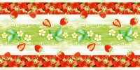Tafelloper 40 cm x 24 ldm. - STRAWBERRY