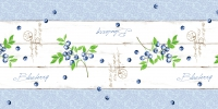 Table runner 40 cm x 24 ldm. - BLUEBERRY