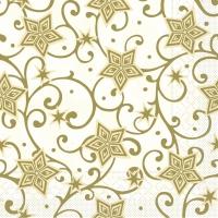 100 Servilletas de Almuerzo de Tejido - Josh (champán/oro)