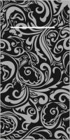 100 Besteckservietten LIAS schwarz-silber