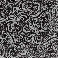 Tissue Dinner napkins LIAS schwarz-silber
