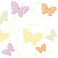 50 Serviettes de table Linclass - CHARLOTTE pastel