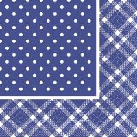 Tissue Dinner napkins ANTONIA blau