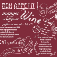 50 Linclass Serviettes dinner SCRIPT bordeaux