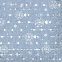 200 Tissue Lunch Napkins - Stella (blau)