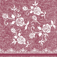 100 Tissue Lunch Servietten LACE bordeaux