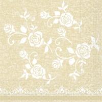 100 Tissue Lunch Servetten - LACE beige