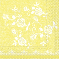 200 Tissue Lunch napkins LACE gelb