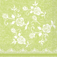 100 Tissue Lunch napkins LACE limette