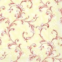 Tissue Dinner napkins MANOLA terrakotta-bord.