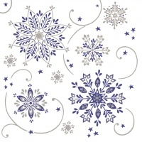 50 Serviettes de table Linclass - Cristal (blau/argent)
