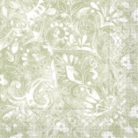 100 Tissue Lunch napkins FELICIA Olive