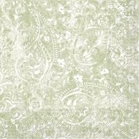 100 Tissue Dinner napkins FELICIA Olive