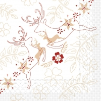 100 Tissue Lunch napkins LEONARD beige-bordeaux