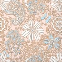 100 Tissue Dinner napkins GWENN braun-hellblau