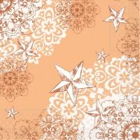 100 Tissue Lunch napkins STERNENSCHEIN apricot-terrakotta