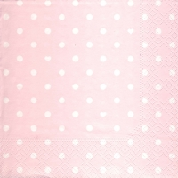 Lunch napkins Hearts&Dots pink