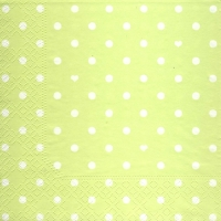 Lunch napkins Hearts&Dots light green