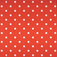 Lunch napkins Hearts&Dots red