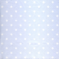 Lunch napkins Hearts&Dots light blue
