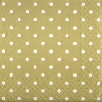 Lunch napkins Hearts&Dots gold