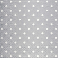 Lunch napkins Hearts&Dots silver