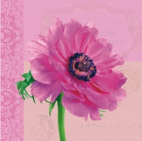 Lunch Servietten Anemone pink