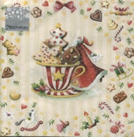 Lunch napkins Cookies Cup