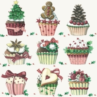 Lunch napkins X-Mas Cupcakes
