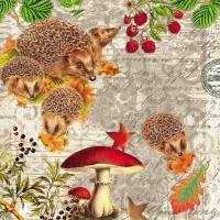 Lunch napkins Hedgehog Family