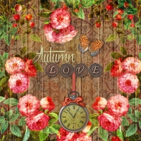 Lunch napkins Autumn Love