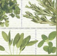 Cocktail napkins Mixed Herbs