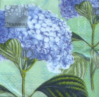 Serviettes de table 25x25 cm - hortensia