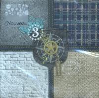 Napkins 25x25 cm - compass